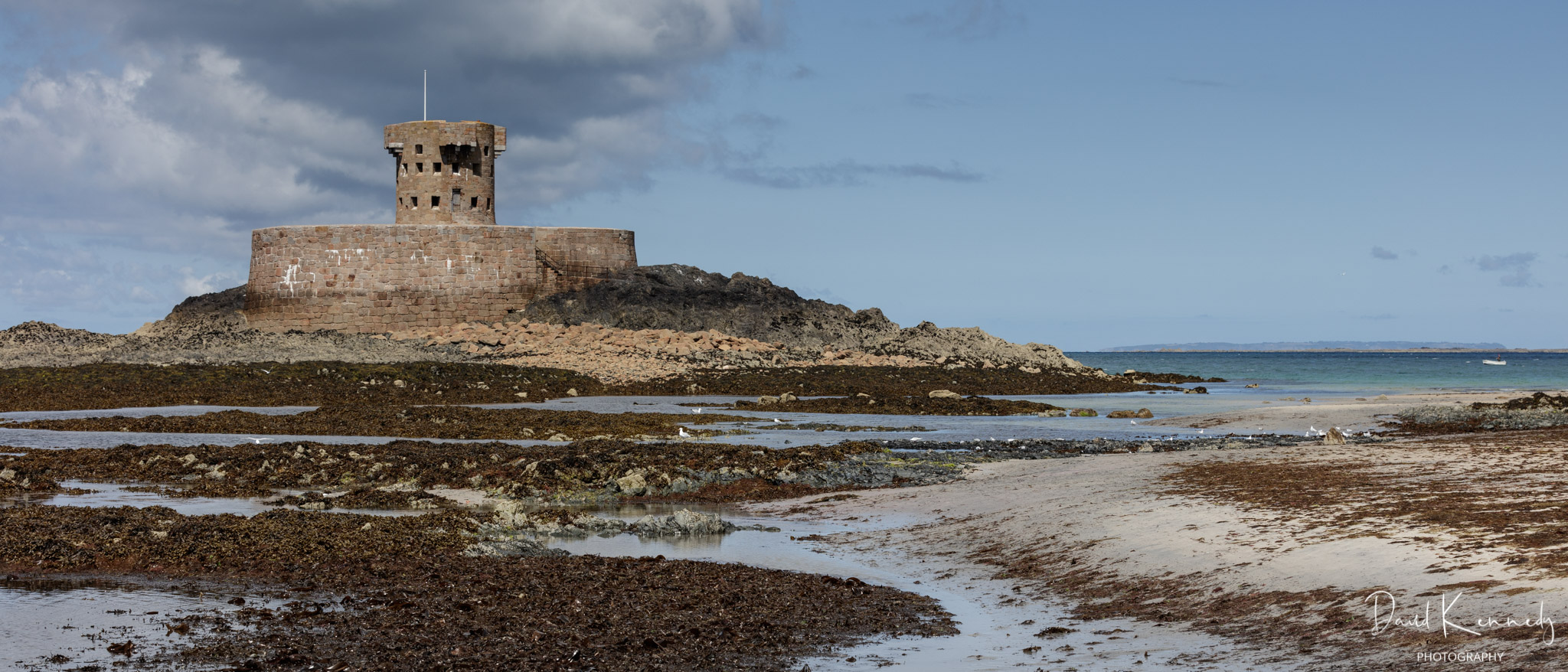 Napoleonic era defence tower at low tide