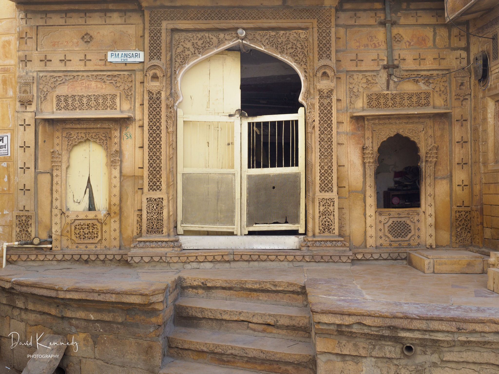 Front of a house in Jaisalmer Old City / Fort