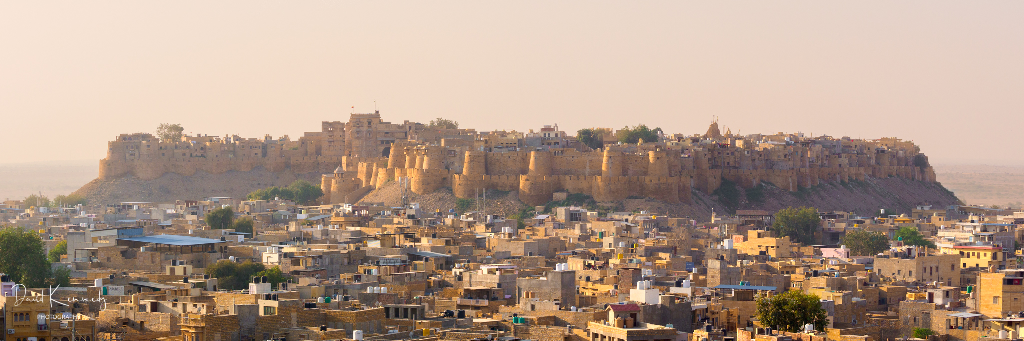 View of the Fort and Old Town in Jaisalmer, India